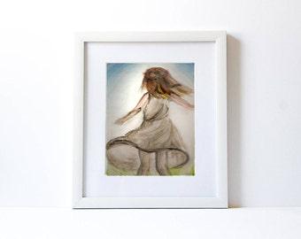 Prophetic Art, Watercolor Print, Instant Download Printable Art