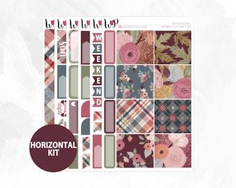 Apple Picking Horizontal Kit | Matte Glossy Planner Stickers