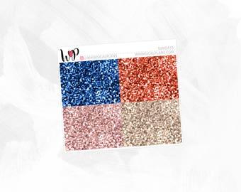 Sundays Glitter Headers | Matte Glossy Planner Stickers