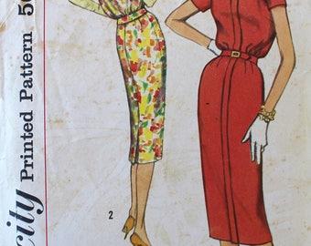 Vintage Sewing Pattern - 1950s Dress Pattern - Simplicity 2526