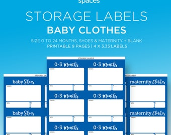 Storage Labels   Baby BOY Clothes, Shoes, And Maternity PRINTABLE LABELS    Organizing Labels