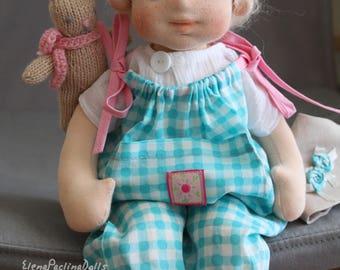 "Waldorf doll 36 cm\14.4"" Waldorf baby Puppen Poupee Muneca Rag doll"