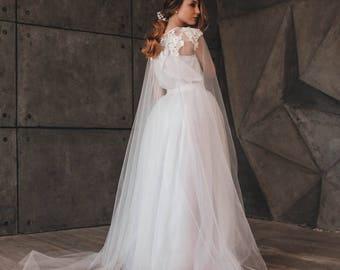 Lace wedding cape, bridal cape, cape, wedding cape, veil, veil wedding