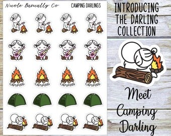 Camping Darlings Planner Stickers