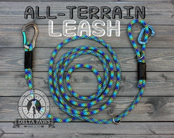 All-Terrain Climbing Rope Leash || Perfect for The Ourdoor Dog! || Hiking, Exploring, Running, Walking, etc.