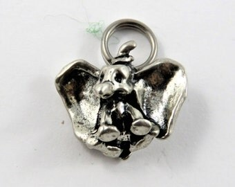 Walt Disney Disneyland Character Dumbo the Elephant Sterling Silver Charm or Pendant.