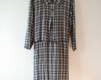 1990s School Teacher Midi Dress