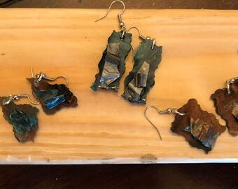 Resin earrings.  All one of a kind