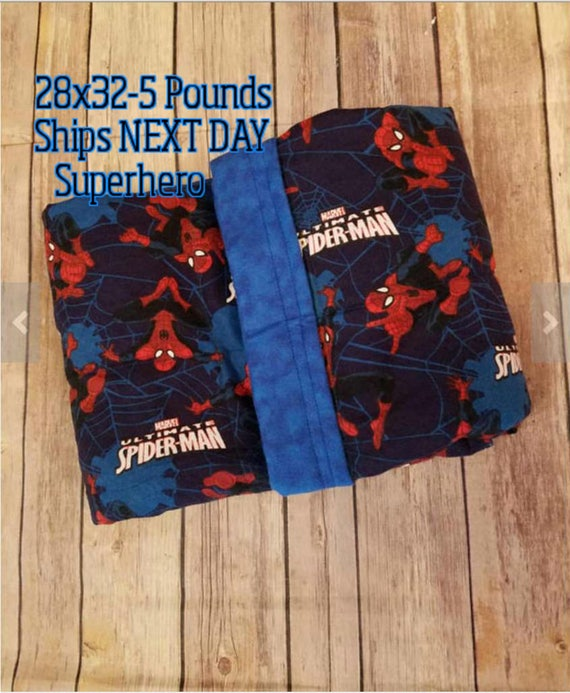 Super Hero, 5 Pound, WEIGHTED BLANKET, 5 pounds, 28x32 for Autism, Sensory, ADHD, Calming, Anxiety,