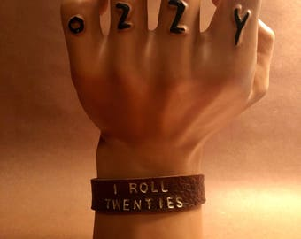 I Roll Twenties -- Leather Cuff Bracelet