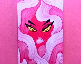 """Mad Girl Art Print - 4""""x6"""" print, feminism, feminist print, angry girl, girl power, riot grrl"""