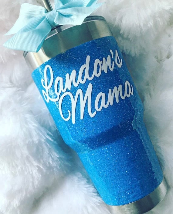 New Color! Glitter Yeti Rambler in Cobalt Blue!