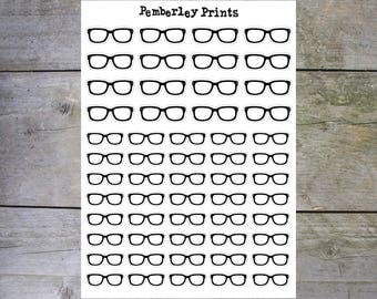 Glasses //  Reading Glasses Planner Stickers Perfect for Marking Book Club/Studying/work/Exams // HD26