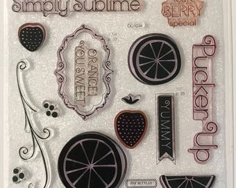 CC1039 / Taste of Summer / Stamp Set / Close To My Heart / CTMH / Acrylic Stamp Set / Clear Stamp Set / Pucker Up / Simply Sublime