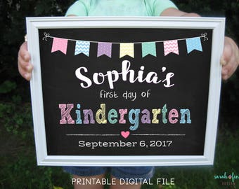 First Day of School Sign, Printable Back To School Sign, Kindergarten Sign, Pre-K, First Day, Preschool, School Photo Prop, Back to School
