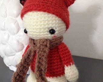 """Little Pixie Doll """"lutinou"""" little orange Fox"""