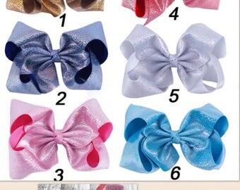 8 Inch Glitter Bows