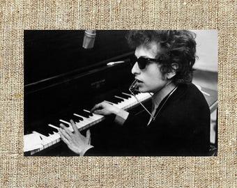 Bob Dylan photograph, black and white photo print, vintage photograph, rock music decor, gift for him