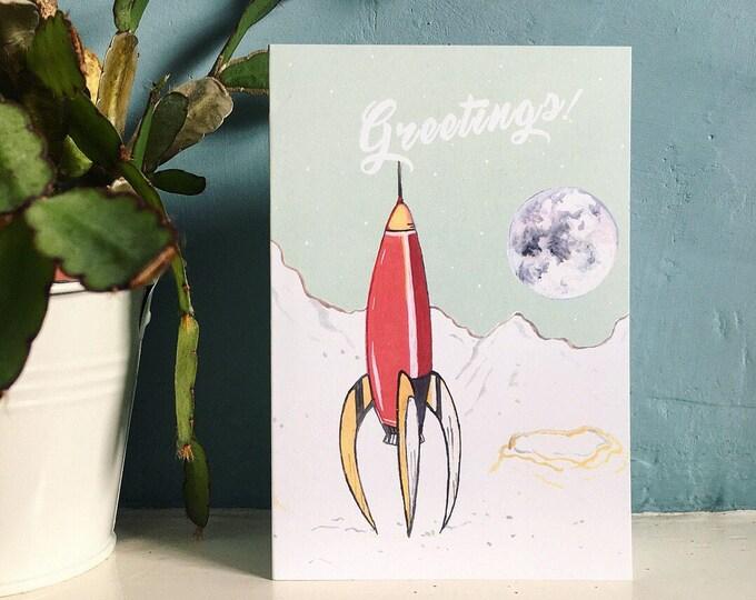 Greetings! Rocket Card