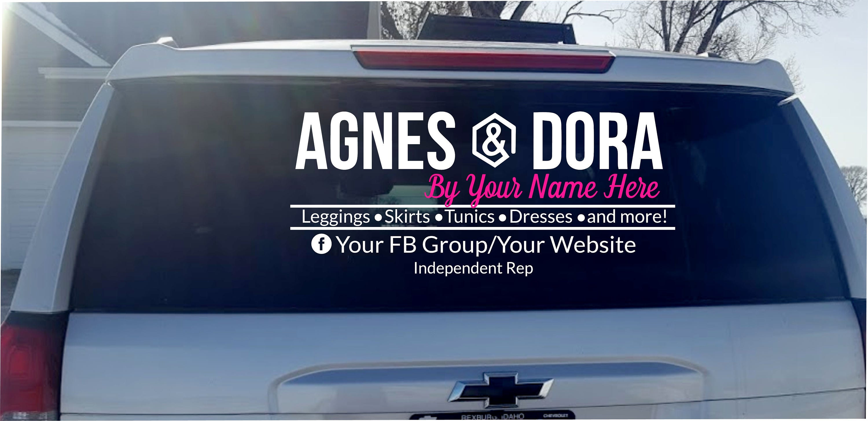 Agnes Dora Vinyl Decal Car Decal Business Logo Decal - Custom car window decals business