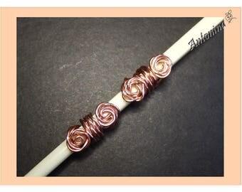 2 Dread Beads Copper Dread Jewelry Dreadschmuck dread Jewelry Dreadspiralen Dread Jewelry