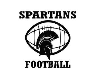 Spartans Football high school college SVG File Cutting, DXF, EPS design, cutting files for Silhouette Studio and Cricut Design space
