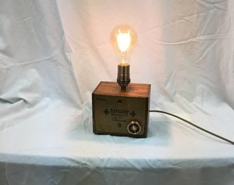 Cigar Box Lamp with Dimmer Switch