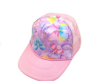Glitter Butterfly Trucker Hat-Youth Size