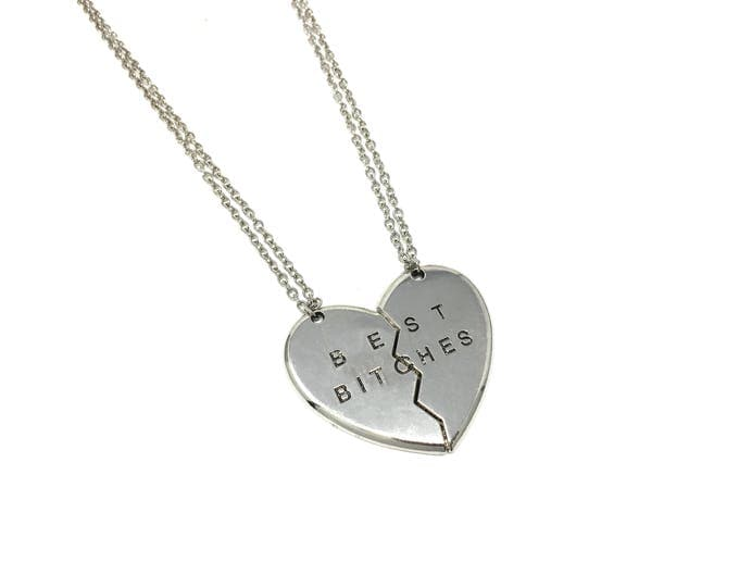 BEST BITCHES: 2pc necklace gift set