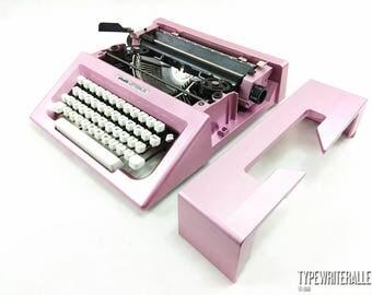 The PINK CANDY!!! Olivetti LETTERA 25 typewriter, Olivetti typewriter, manual typewriter, working typewriter, pink typewriter,
