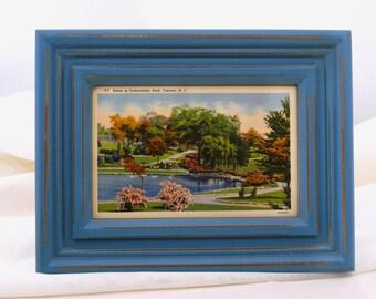 Framed Vintage Postcard - Scene in Cadwalader Park, Trenton, NJ