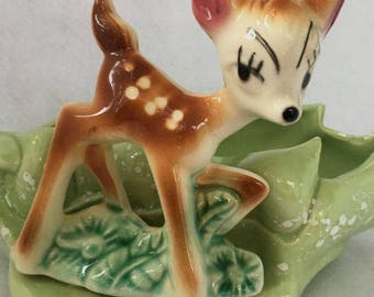 Vintage Bambi Planter - USA