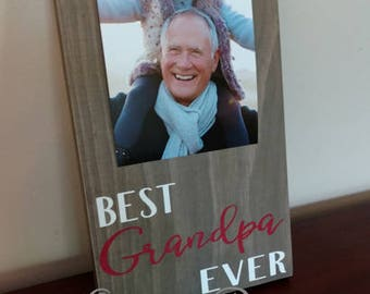 Best Grandpa Ever Picture Frame.Grandpa Frame.Picture Frame.Father's Day Gift Idea.Display Photos.Photo Hanger.Grandpa Gift.Gift for Grandpa