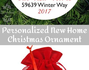 Tee Pee Our New Home Christmas Ornament - Personalized Porcelain Realtor Housewarming Holiday Gift For Client - O-907-T1