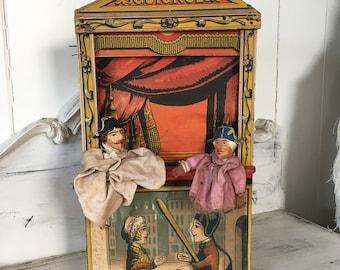 Antique 1880 Rare Miniature Guignol Puppet Theater