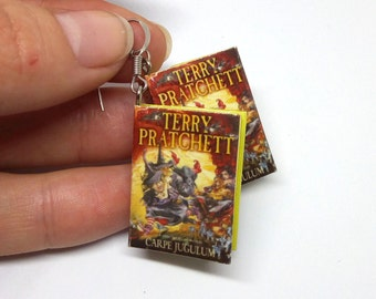 Book earrings, mini book earrings, book lovers gift, geek gift, readers gift, book charm, fantasy books, book miniature, teen gift book