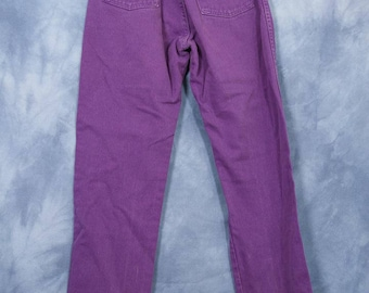Vintage 80s 90s Purple Wranglers // Denim Jeans Pants // Retro Mom High Waisted // size 9 x 34