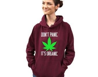 Don't panic it's organic hoodie. Funny hoodie sweatshirt Women's, Women clothing, Funny.