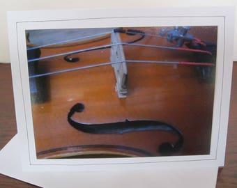 Photo Greeting Card   Handmade Card   Photo Note Card   Original Photography   Violin