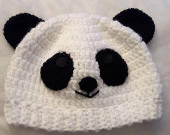 Crochet Hat panda bear