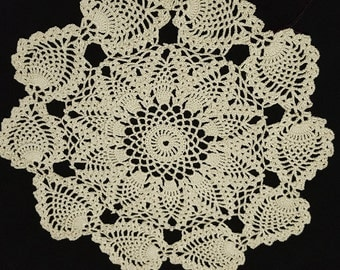 Crocheted doily