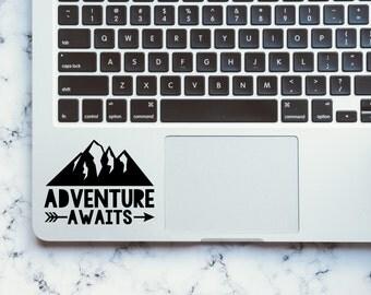 Adventure Awaits / Adventure Awaits Decal / Vinyl Decal / Outdoors / Nature / Adventure / Camping Decal / Macbook Decal / Laptop Decal /Tree
