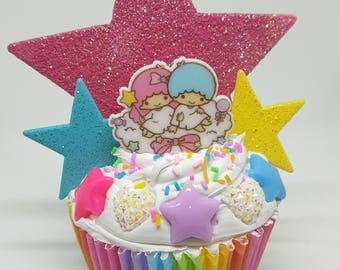fake cupcake,kawaii,twinstar,trinket,decoration,girl