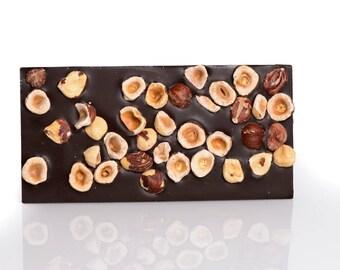 Hazelnut chocolate bar, hazelnut chocolate tablet, hazelnut chocolate, hazelnut, chocolate, milk chocolate, dark chocolate, fine chocolate
