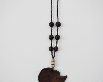 Wooden africa etsy africa necklace stained wooden african pendant necklace aloadofball Image collections