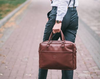 Gift For Men,Leather Bag,New briefcase,Handmade Leather Briefcase,Mens Briefcase,Cross Body Bag,Laptop Bag, Leather Briefcase