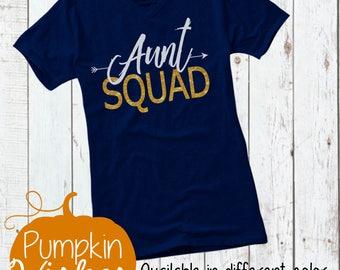 Aunt Squad TShirt/Pregnancy Announcement/New Aunt Gift/Baby Shower Shirt/Best Aunt/Auntie Shirt/Squad Shirt/Best Aunt Ever/Aunt To Be