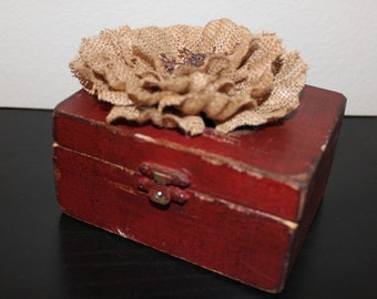 Old Red Jewelry Box
