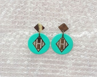 buffalo horn earrings QG07
