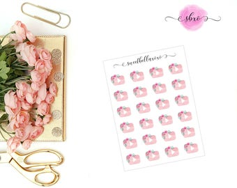 Floral YouTube Planner Stickers / Play Button Stickers / Functional Planner Stickers / ECLP / Planner Stickers